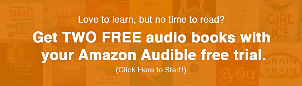 Amazon Audible Free Trial, Two free audio books!